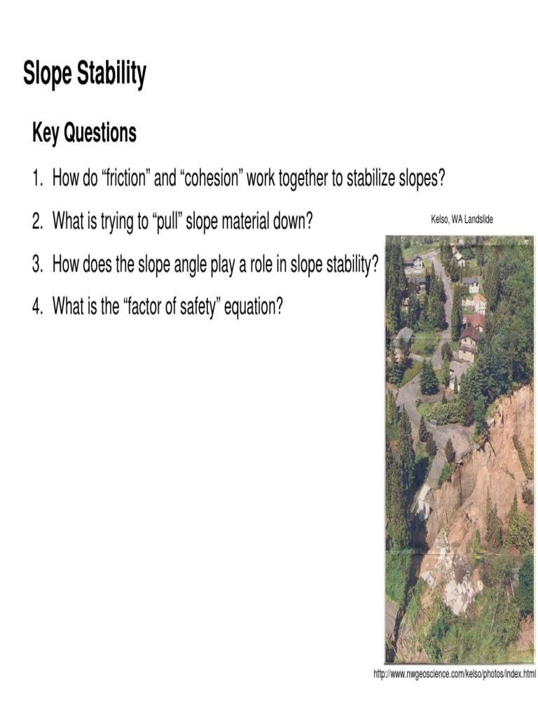 Kestabilan Lereng | Landslide | Friction