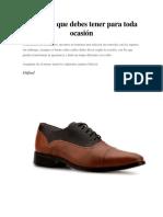 5 Zapatos Que Debes Tener Para Toda Ocasión