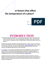 What Are the Factors That Affect the Temperature