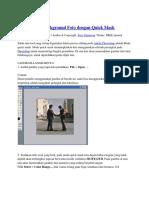 Memisahkan Background Foto Dengan Quick Mask