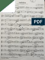 Andaluza Pour Saxophone Alto Et Piano, E. Granados