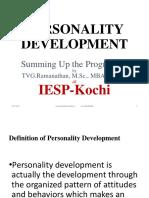 IESP 2017 Personality Development