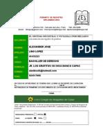 Formato de Registro de Diplomado 2016