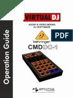 Behringer CMD DC1 VirtualDJ 8 Operation Guide