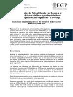 Analisis de Las Pp Del Mineduc