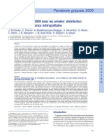 Trichereau J. Pandémie Grippale 2009- Distribution Géographique en France. Médecine Et Armees 2012. 425-32