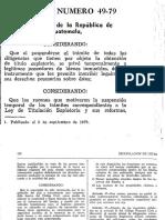 Decreto 49 79 Ley de Titulacic3b3n Supletoria