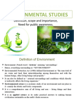 Environmental Studies Definition and Scope