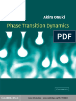 Phase Transition Dynamics, Onuki a, CUP 2002