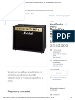 Amplificador Planta Marshall Para Guitarra Mg100fx 2 X 12 - Bs. 2.550