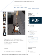 (10) Guitarra Fender Stratocaster Unica Con Floyd Rose - Bs. 7.500