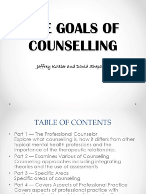 The Goals of Counselling   School Counselor   Family Therapy