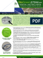 Accendo Electronics Digital HID (DHID) GloGreen 575W CMH DHID Retrofit Ballast Operates Ceramic Metal Halide