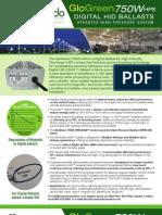 Accendo Electronics Digital HID (DHID) GloGreen 750W HPS DHID Retrofit Ballast Operates High Pressure Sodium