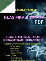 Mekanika Tanah - Klasifikasi Tanah1