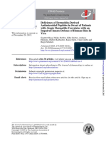 Deficiency of Dermcidin-Derived Antimicrobial Peptides in Sweat of Patients With Atopic Derm