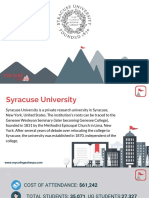 Study Abroad at Syracuse University, Admission Requirements, Courses, Fees