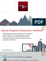 Study Abroad at  Virginia Polytechnic Institute, Admission Requirements, Courses, Fees