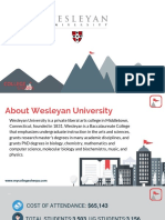 Study Abroad at  Wesleyan University, Admission Requirements, Courses, Fees