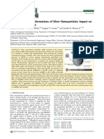 Environmental Transformations of Silver Nanoparticles Impact on Stability and Toxicity
