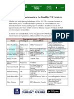 List of New Appointments in the World in PDF 2015 16