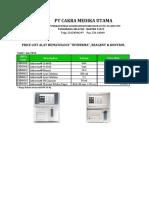 Hematology - Photometer Intherma 2016