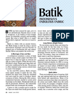 Batik—Indonesia's Fabulous Fabric