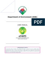 ESWIS External User Manual