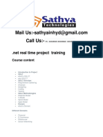 .net real time project  training in hyderabad
