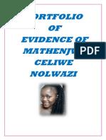 welcome to Mathenjwa CN Evidence Portfolio