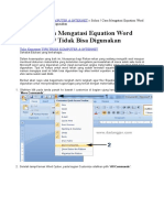 Tips Memunculkan Equation Tool Ms Word