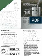 Speaker PowerPod360 Manual