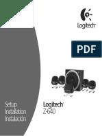 Speaker Logitech Z-640 Manual