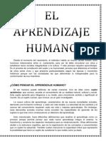 El Aprendizaje Humano