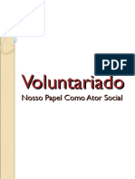 Voluntariado - Ator Social