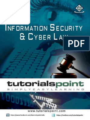 Information Security Cyber Law Tutorial pdf | Online Safety