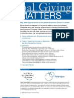 Global Giving Matters Special Issue May 2004 World Economic Forum