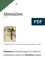 Mentalism - Wikipedia