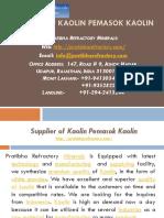 Supplier of Kaolin Pemasok Kaolin