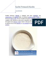 Supplier of Kaolin Pemasok Kaolin