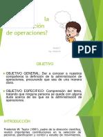 1.2 Qué Es La Administración de Operaciones