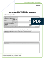 International Stakeholder Membership Form 2017