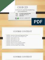 1.0 Course Content
