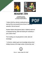 READING TIPS Dr Stephen Krashen