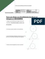 Pasos Para Dibujar Una Circunferencia Inscrita en Un Triángulo Con GEOGEBRA