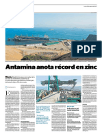 Antamina Anota Récord en Zinc