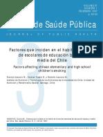Factores Que Inciden en El Habito de Fumar en Escolares