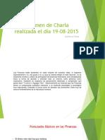 Resumen de Charla Realizada El Dia 19-08-2015
