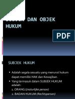 Pih-4 Subjek & Objek Hukum