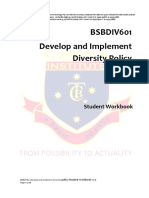 BSBDIV601 Develop and Implement Diversity Policy Student